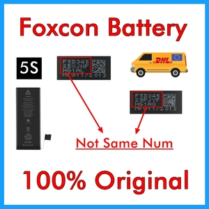 Image 1 - BMT original 20pcs/lot Foxc Factory Battery 0 cycle 1560mAh Battery for iPhone 5S replacement BMTI5SFFB