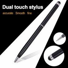 Новинка 2в1 черная мини металлическая емкостная стилус для сенсорного экрана Шариковая ручка для iPad 2 3 для iPhone 4 4S акция