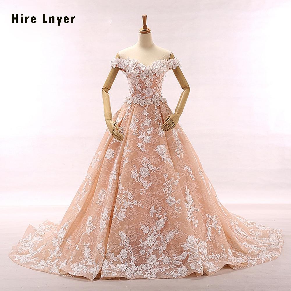 Najowpjg 2019 New Arrive Romantic Pink Satin Inside White Appliques Lace A-line Wedding Dresses Aliexpress Login Robe De Mariee
