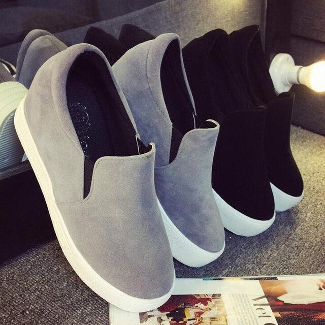 Zapatos de Lona florales Venta Caliente 2017 de Moda Apliques Slipony Mujeres Aumento de la Altura Calzado Chica Femenina Confort Slipon Mujeres G550