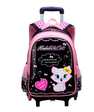 Children School Rolling backpacks bag for kids wheeled backpack bag for Girls school Trolley bags kids School backpack On wheels