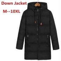 10XL 8XL белая утка вниз длинная куртка Для мужчин теплая куртка varsity осень-зима ветровка парка свободная посадка Повседневное пальто