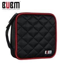 BUBM Портативный полиэстер CD/DVD кошелек 32 диска Емкость держатель сумка для хранения протектор органайзер для автомобиля, дома, офиса и путешествий
