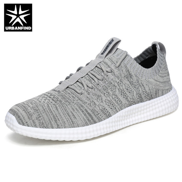 Flying Cloth Breathable Casual Lightweight Comfortable Sneakers - Dark Grey 43 countdown package discount best prices free shipping professional cheap sale reliable discount supply OuVa5QPpK9