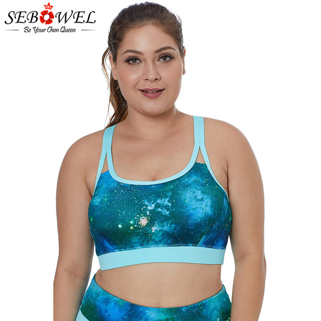47ca6e79df34fd US $11.9 30% OFF|SEBOWEL Painting Print Sports Bra Top Woman Plus Size  Fitness Tops Comfortable Soft Yoga Bra Tops Shake Proof Stretch  Brassiere-in ...