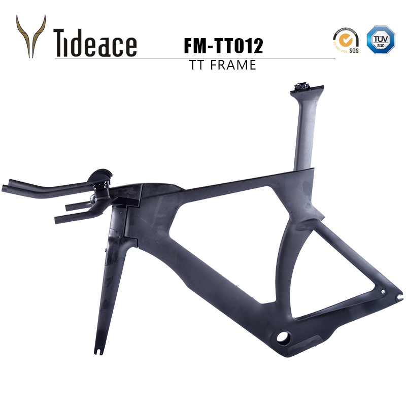 Tideace Time Trial Race Bike Frame OEM Carbon Tt Bike Frame 2018 Full Carbon TT Frameset Di2 Triathlon Frame With TRP Brake
