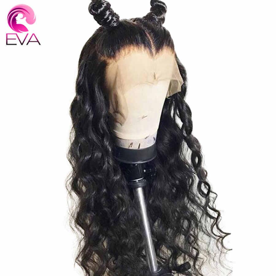 Pelucas de pelo humano de encaje completo de Eva predesplumadas con pelo de bebé brasileño onda suelta Remy cabello humano pelucas sin pegamento para las mujeres negras