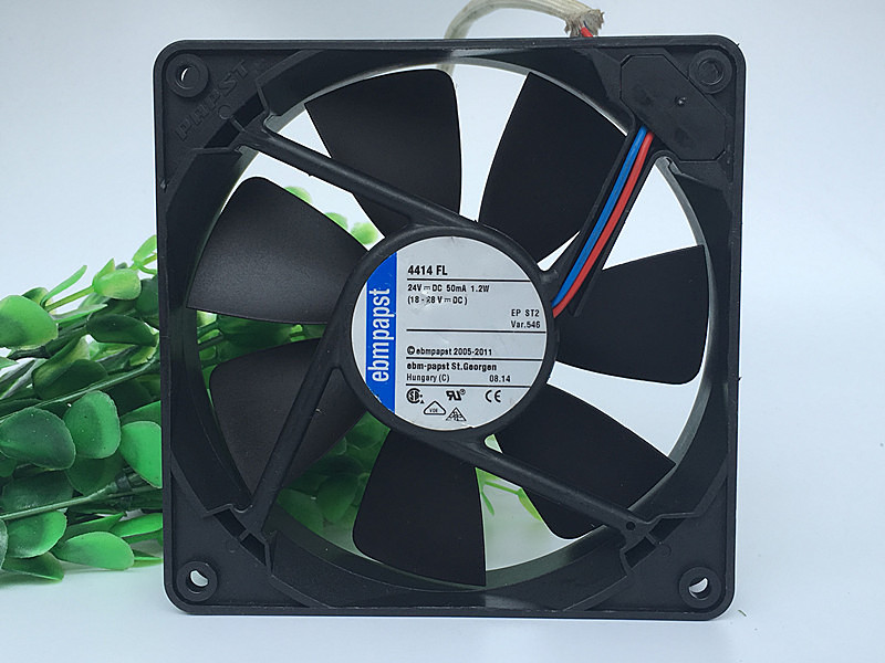 New original ebmpapst 4414 FL 12cm12025 24V 1.2W 119 * 119 * 25MM silent cooling fan nmb new and original fba09a12m 9025 9cm 12v 0 2a chassis silent cooling fan 90 90 25mm