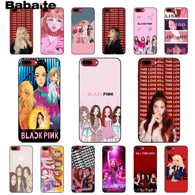 Babaite Blackpink kill this love Colorful Phone Accessories Case for Apple iPhone 8 7 6 6S Plus X XS MAX 5 5S SE XR Mobile Cases in Half wrapped Cases from Cellphones Telecommunications
