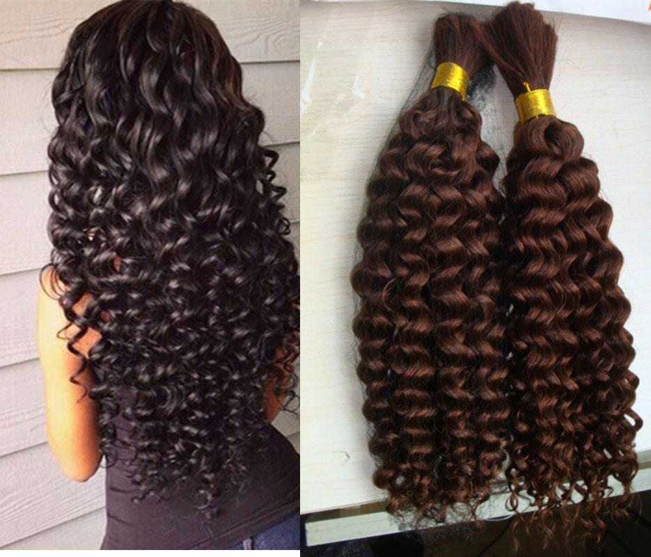 Malaysian Virgin Hair Kinky Curly Human Braiding Hair Bulk