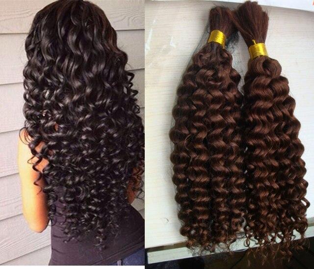 Malaysian Virgin Hair Kinky Curly Human Braiding Hair Bulk No Weft