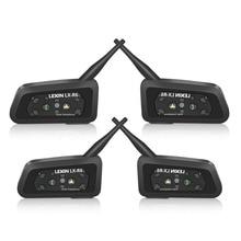 Lexin 4PCS R6 1200M Motorcycle Bluetooth Helmet Headsets Intercom up to 6 Riders Wireless Waterproof Interphone Headsets GPS MP3