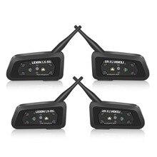 Lexin auriculares R6 para casco de motocicleta, inalámbricos por Bluetooth hasta 6 conductores, interfonos impermeables con GPS y MP3, 1200M