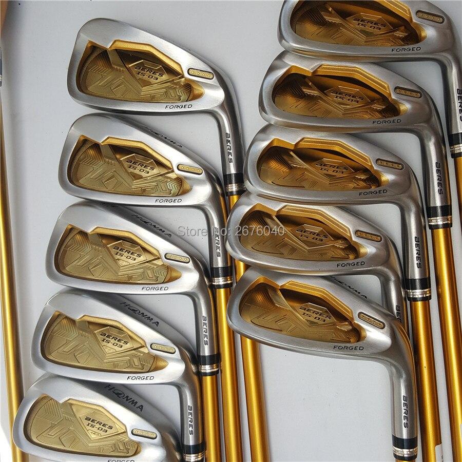 Golf Clubs honma s-03 4 étoiles fers de GOLF clubs set 4-11Sw.Aw Golf club de fer De Golf Graphite arbre R ou S flex Livraison gratuite