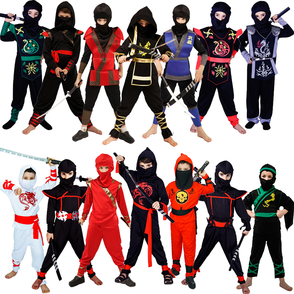 Ninja Costumes Cosplay Classic Halloween Costume  Ninja Costumes For Kids  Decorations Supplies Uniforms Ninja Party Costumes