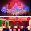 50pcs/lot 12cm LED Latex Balloons Wedding Lighting Balloon Colorful Hellium Air Balloons Birthday Party Celebration Supplies