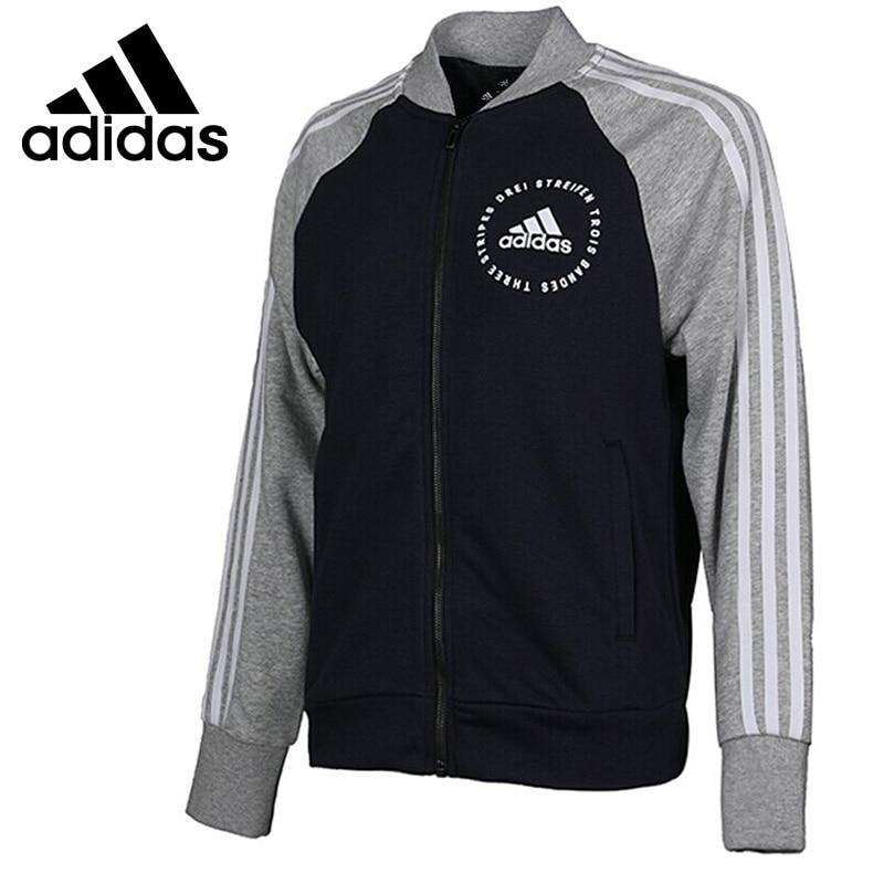 Original New Arrival 2018 Adidas W SID Bomber Women's jacket Sportswear striped trim fluffy panel bomber jacket