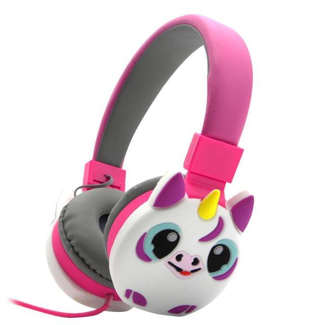 JINSERTA crianças Fones De Ouvido Sem Fio Bluetooth Stereo Headset Música Dobrável Stretchable Emoji Dos Desenhos Animados Fone De Ouvido