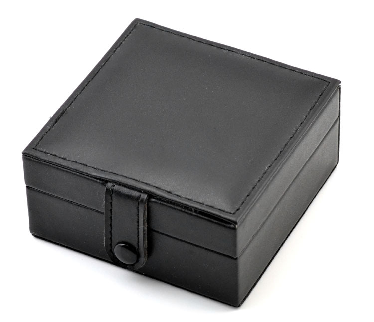 Elegant Organizer Gift Box Foam Pad Black Leather Hight Quality Pocket Watch Box Storage | Watch Boxes