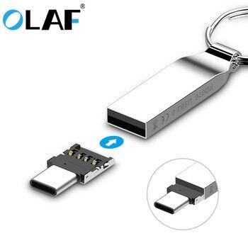 Olaf Mini OTG type-c à USB 3.0 téléphone portable U lecteur de disque tablettes adaptateur otg convertisseur de câble pour Samsung S9 One Plus 5 T OTG