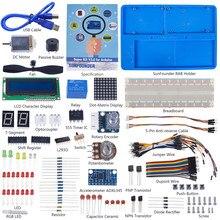 SunFounder אלקטרוני DIY סופר Starter ערכת V3.0 עם הדרכה ספר עבור Arduino UNO R3 מגה 2560 (בקרת לוח לא כלול)
