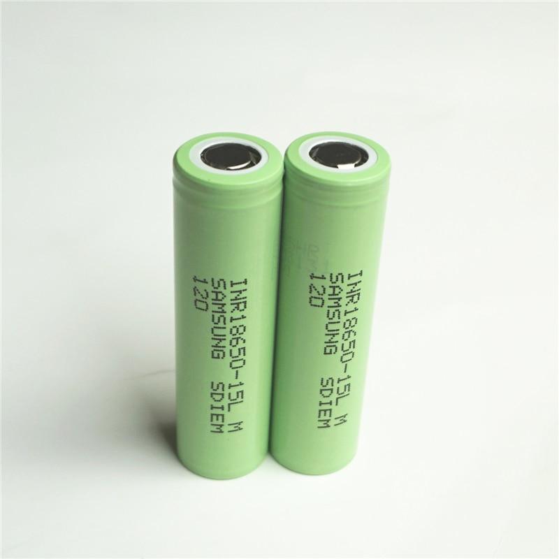 100% original for SAMSUNG INR 18650 15L(M) 3.6V 3.7V 1500mAh Dynamic Lithium ion Li ion