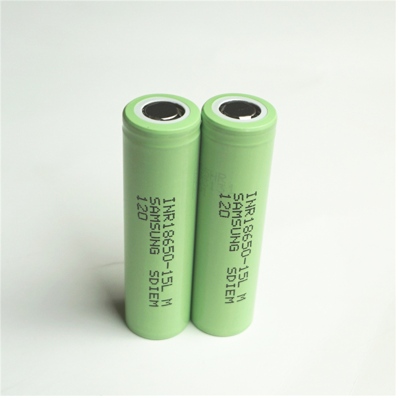 100% original para SAMSUNG INR 18650-15L (M) 3.6 V 3.7 V 1500 mAh de iões de Lítio Dinâmica Li-ion Baterias Recarregáveis carregador LIVRE