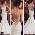 Evening Dresses 2017 Spaghetti Strap Natural Lace Prom Dress Floor Length Sleeveless Sexy Evening Dress
