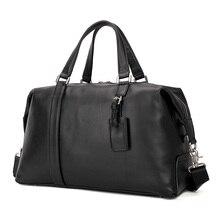 Купить с кэшбэком J.M.D Real Leather Travel Bags Weekend Bag Large Capacity Handbags For Women and Men 6007A