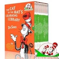 20 bücher/Set Dr. Seuss Katze Im Hut der Lernen Bibliothek Englisch Geschichte Bücher für Kinder Kinder Färbung buch Dr Seuss