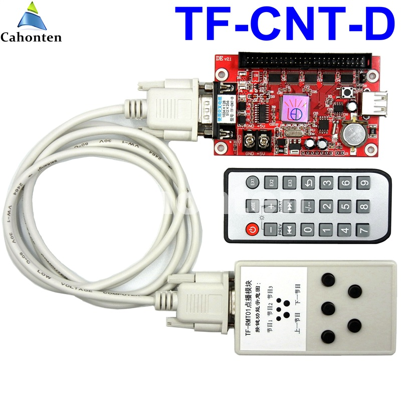 цена на TF-CNT-D led controller select program play from the TF-RMT01 module remote control led screen display control card