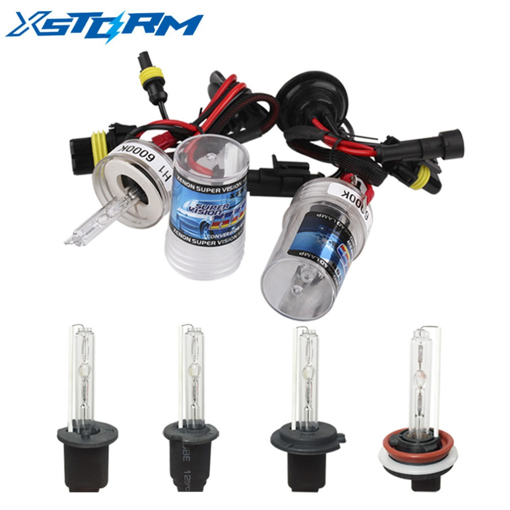 2Pcs Car Headlight HID Xenon H7 Bulbs 35W 55W H1 H3 H11 9005 9006 H27 4300K 5000K 6000K 8000K 10000K Fog Lights Auto Lamp 12V 2pcs xenon hid bulb 9006 55w car headlight lamp 4300k 5000k 6000k 8000k 10000k 12000k 12v car light lens auto fog light bulb