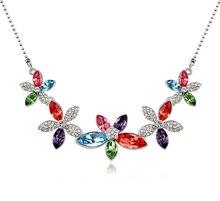 Cristal de Swarovski Collar de Cristal Plateado del Oro para las mujeres Estrella Amor Nuevos Collares Colgantes de Joyería de Moda 10810