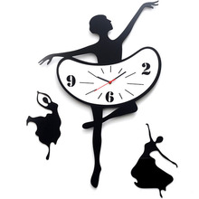 Ballet innotime mute personality fashion simple modern art living room wall large quartz clock FREE SHIPPING