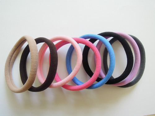 Towel S Size Cotton Hair Bands Elastic Ponytail Holders For Girl ... 857c203a343