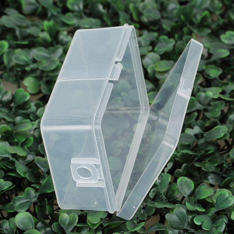 20 pcs 78*49*30mm Transparent Plastic Storage Box Clear Square Multipurpose Display Organizer Container Collections Case