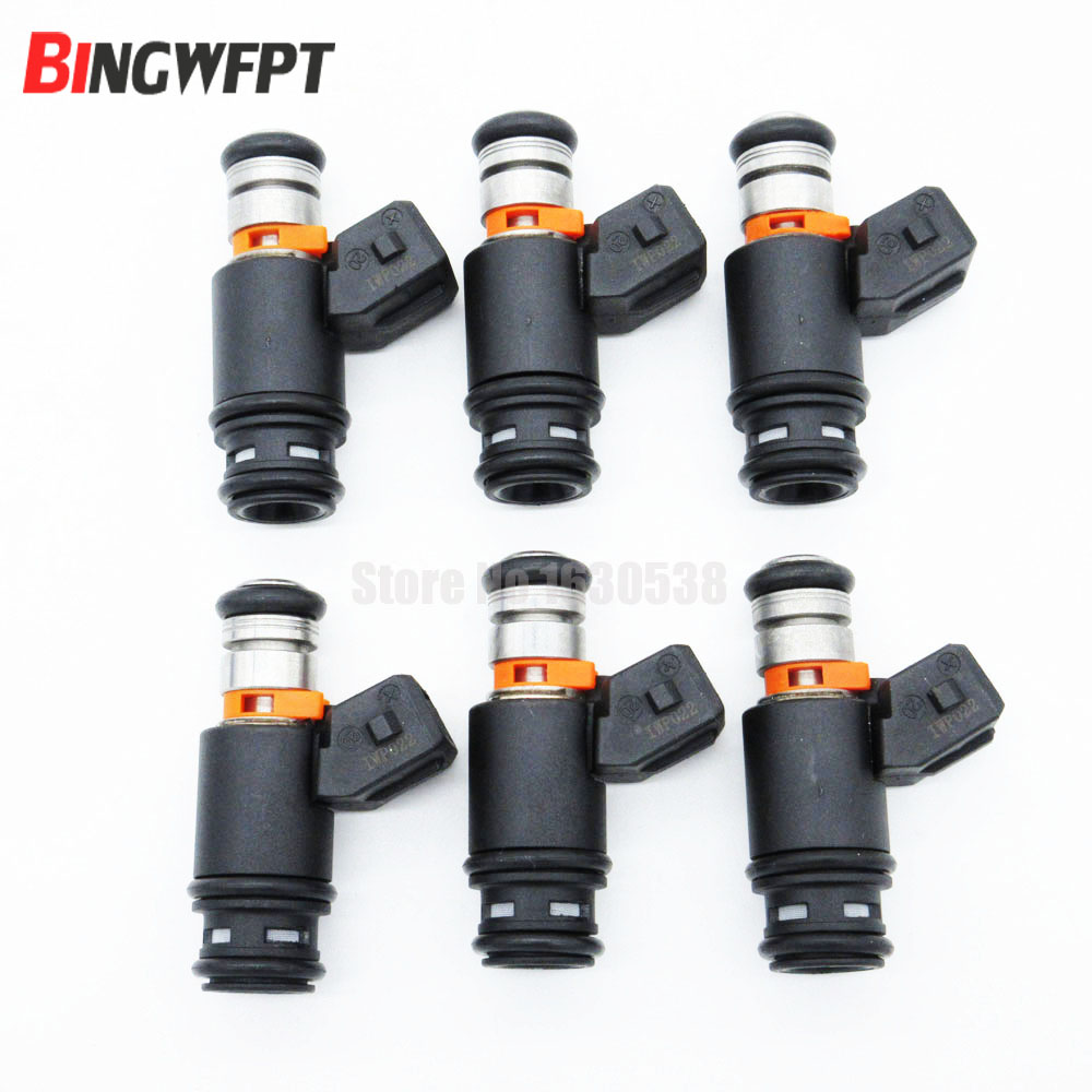 6pc/lot Fuel injector for Volkswagen VW Golf Jetta EuroVan 2.8 V6 IWP022 805000348303 021906031D 021906031B FJ5736pc/lot Fuel injector for Volkswagen VW Golf Jetta EuroVan 2.8 V6 IWP022 805000348303 021906031D 021906031B FJ573