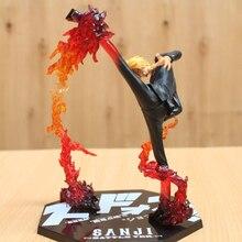 One Piece Black Leg Sanji Fire Battle Action Figure Toy