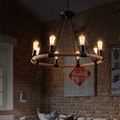 New design Retro Country Loft Style Hemp Rope Edison Vintage Industrial Pendant Lighting Lamp With E14 Lights For Dinning Room