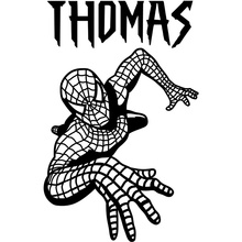 Vinyl Spiderman personalised wall art sticker wall decal childrenbedroon wallpaper Size 60x38cm