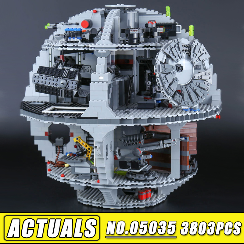 Lepin 05035 Star Set Wars Death Star 3804pcs Building Block Bricks Toys Kits Compatible legoinglys with 10188 Children Toys Gift clone 10188 dhl lepin 05035 3803pcs star model death star model building kit set blocks bricks children toy gift