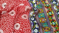 High quality Crepe silk prints diy dress holland wax ankara cotton fabric tissus 16 moomin tulle silk fabric quilting fabrics