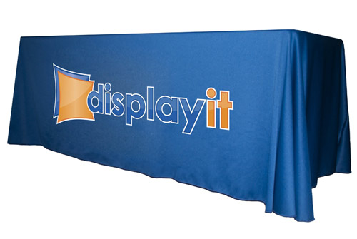 6 Full Side Table Throw, 4 Side Event Table Cover, Heat Transfer Print Table skin