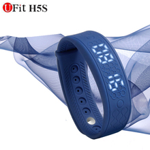 New authentic Ufit H5S Mi band Sensible wristband fixed-frequency coronary heart fee tracker Clever band sensible bracelet Black blue