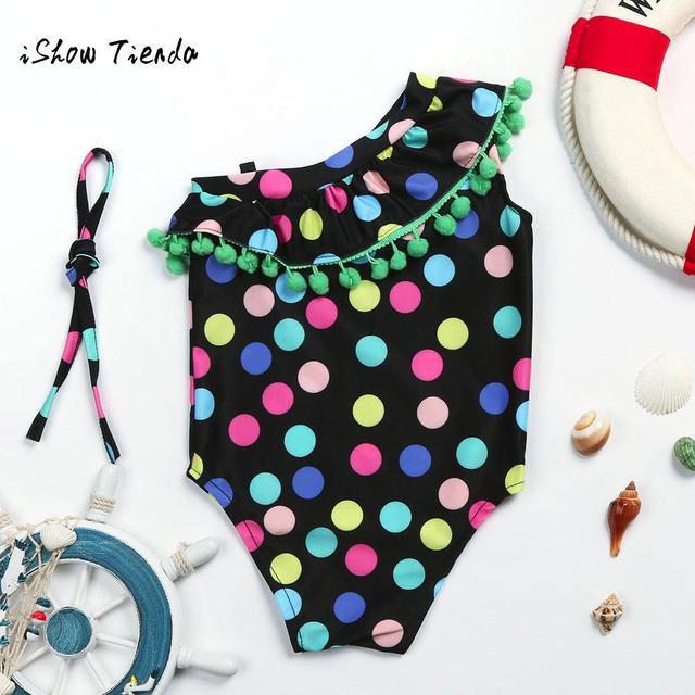 ddefc15ff3a baby girl swimwear 1pcs 2-6 years Swimsuit Toddler Kids Baby Girls Dot  Playsuit Swimwear swimming Suit Bathing Beach Clothes