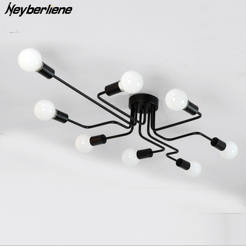 Ceiling Lights Luminaria Led Ceiling Lamp Light For Living Room Personality Industrial Home Lighting Fixture Lamparas De Techo|Ceiling Lights|Lights & Lighting - title=