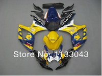 7 presentes + Amarelo/Azul Para SUZUKI K6 06 07 GSXR750 GSX-R750 GSXR 750 2006 2007 GSXR-750 Fairing Carroçaria
