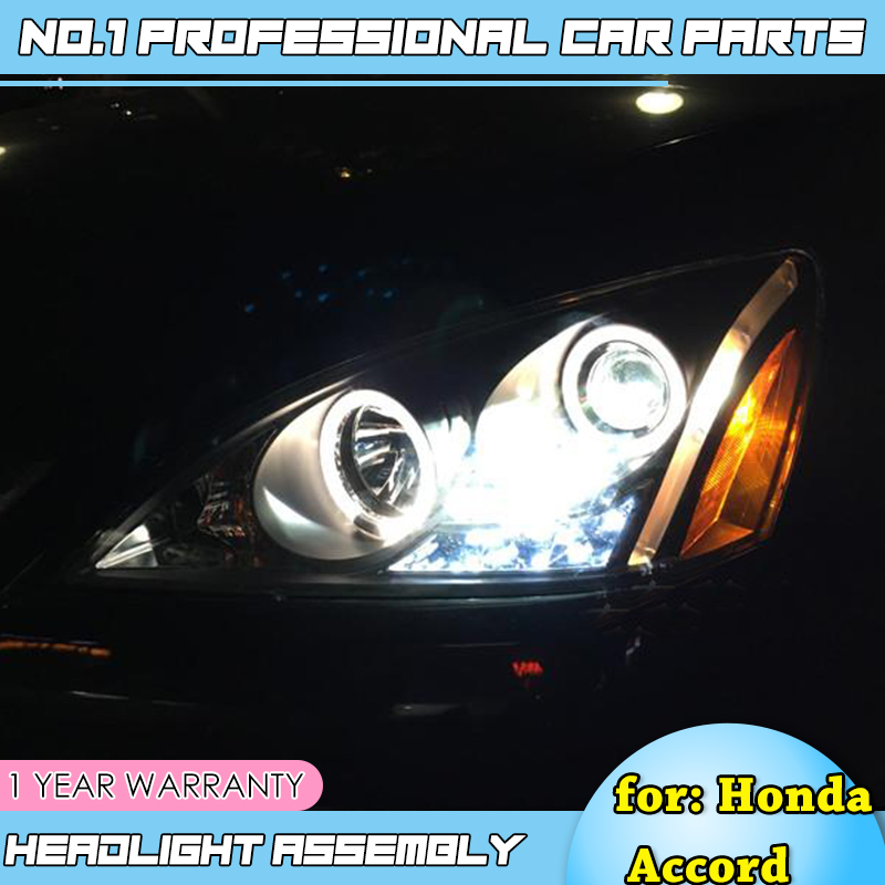 Lampe de tête de style de voiture-pour Honda Accord 2003-2007 phare LED DRL HID xénon bi lentille xénon