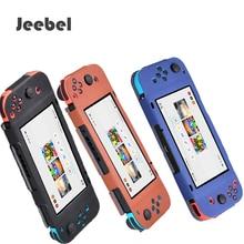 Jeebel NS Interruptor Nintend Caso Capa de Couro Pele Da Tampa Do Console Gamepad Alegria-Con Confortável Experiência de Jogo para o Interruptor Caso