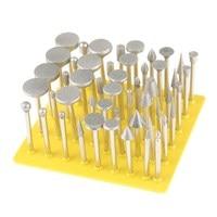 50pcs Diamond Coated Grinding Grinder Head Glass Burr For DREMEL Rotary Tools DIY Metalworking Tools